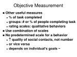 objective measurement16