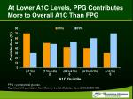at lower a1c levels ppg contributes more to overall a1c than fpg