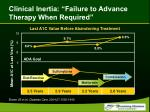 clinical inertia failure to advance therapy when required