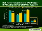 risk factor control in adults with diabetes nhanes iii 1988 1994 nhanes 1999 2000