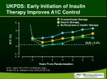 ukpds early initiation of insulin therapy improves a1c control