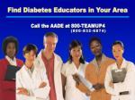 find diabetes educators in your area