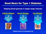 good news for type 1 diabetes