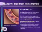 hba1c the blood test with a memory