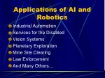 applications of ai and robotics