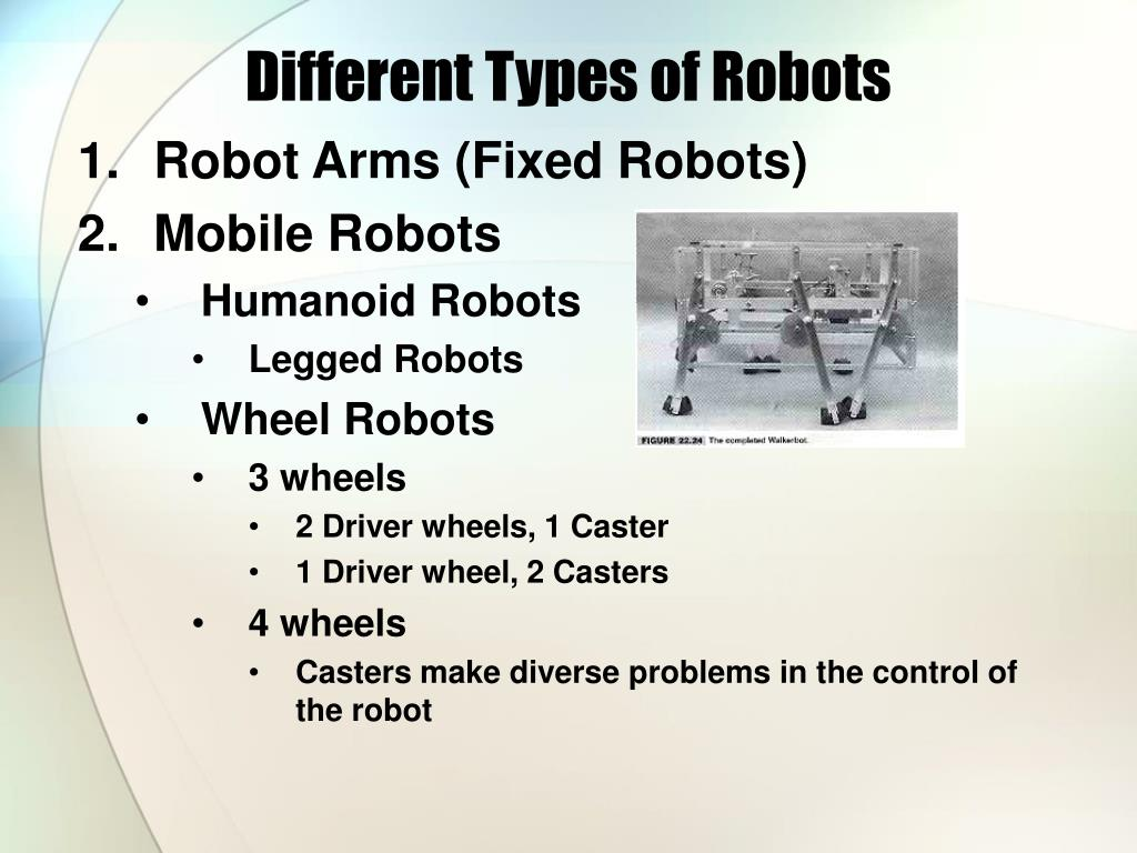 different types of robots l.