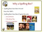 why a spelling bee