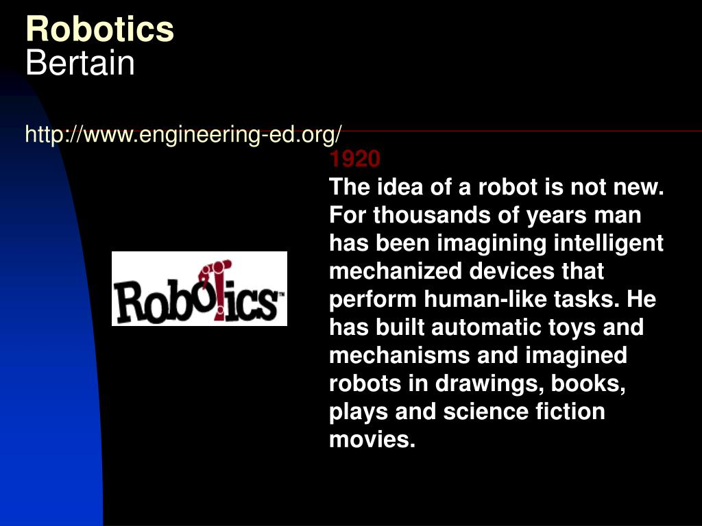 robotics bertain http www engineering ed org l.