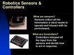 robotics sensors controllers