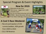 special program event highlights