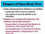 dangers of open book tests