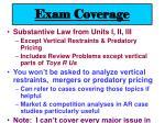 exam coverage