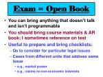 exam open book