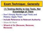 exam technique generally45