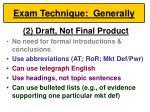 exam technique generally46