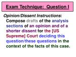 exam technique question i