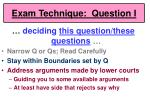 exam technique question i60