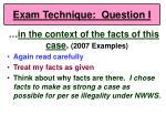 exam technique question i63