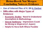 heinz beech nut merger concluding notes re evidence31