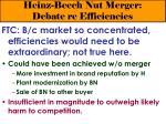 heinz beech nut merger debate re efficiencies27