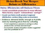 heinz beech nut merger debate re efficiencies28