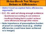 heinz beech nut merger debate re efficiencies29