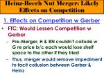 heinz beech nut merger likely effects on competition15