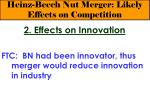 heinz beech nut merger likely effects on competition20