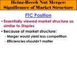 heinz beech nut merger significance of market structure8