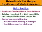 heinz beech nut merger significance of market structure9