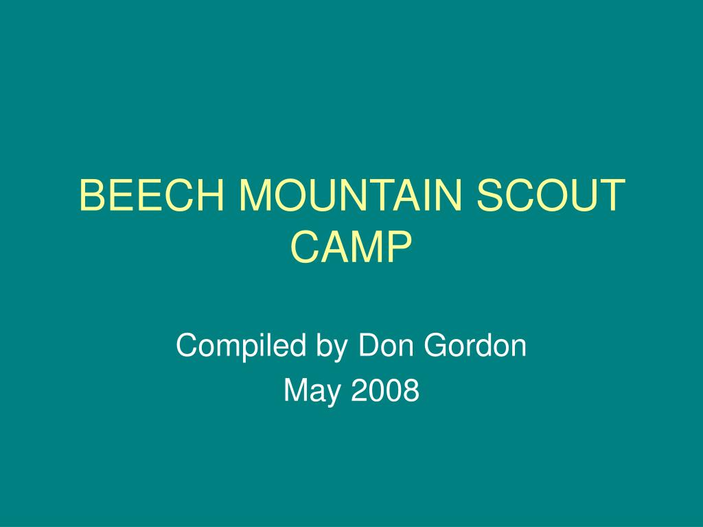 beech mountain scout camp l.