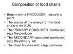 composition of food chains