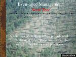 even aged management seed tree