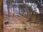 treatments burning