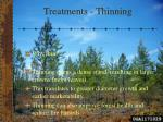 treatments thinning