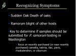 recognizing symptoms