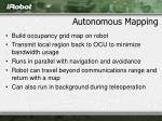autonomous mapping