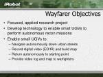 wayfarer objectives
