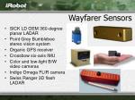 wayfarer sensors