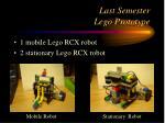last semester lego prototype