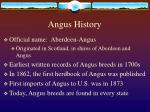 angus history