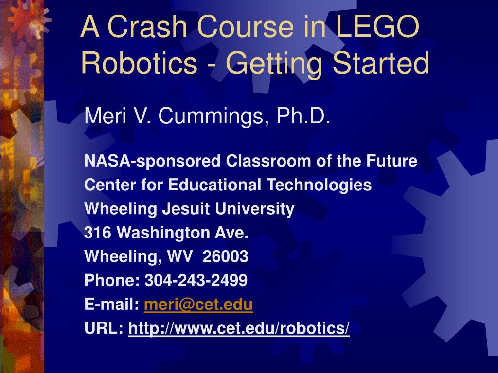 a crash course in lego robotics getting started l.