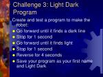 challenge 3 light dark program