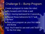 challenge 5 bump program