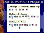 sample robolab programs