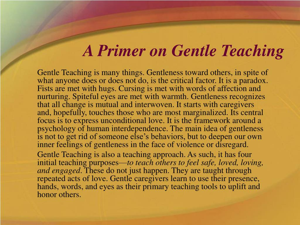 a primer on gentle teaching l.