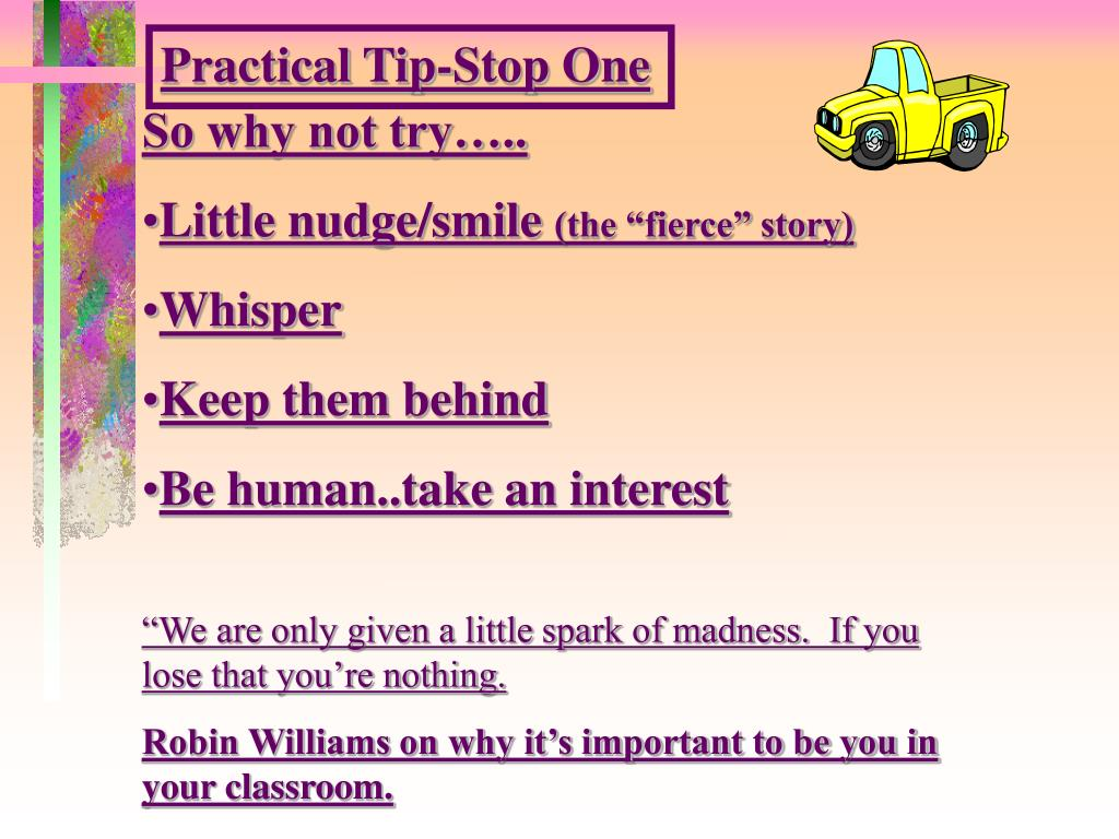 Practical Tip-Stop One