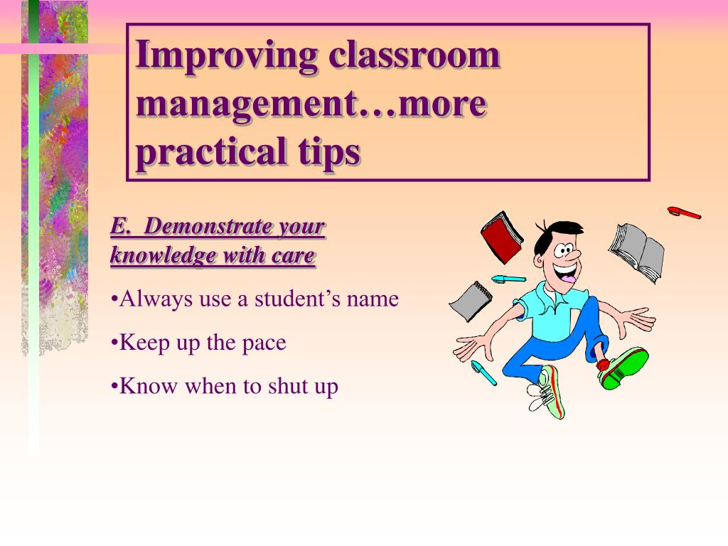Improving classroom management…more practical tips