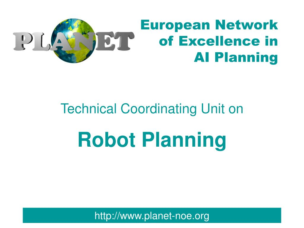 technical coordinating unit on robot planning l.