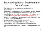 maintaining bench decorum and court control
